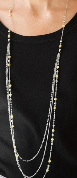 Dove and Faceted Beads sCharm Necklace Set with Matching Earrings
